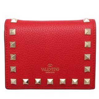 ヴァレンティノ(VALENTINO)のヴァレンティノ VALENTINO ロックスタッズ 二つ折り財布 二つ【中古】(財布)