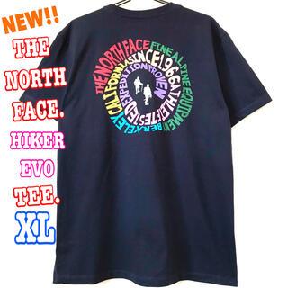 ザノースフェイス(THE NORTH FACE)のレアモデル ♪ ノースフェイス ハイカーEVO Tシャツ ネイビー XL LL(Tシャツ/カットソー(半袖/袖なし))