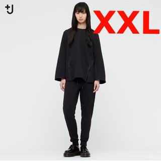 ユニクロ(UNIQLO)のドライスウェットクルーネックシャツ ユニクロ ジルサンダー ブラック XXL(トレーナー/スウェット)
