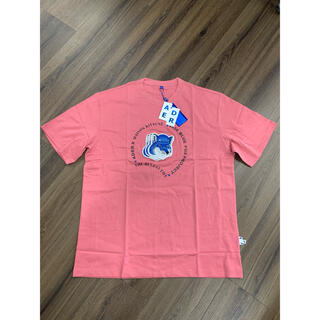 メゾンキツネ(MAISON KITSUNE')のAdererror アーダーエラー メゾンキツネ   Tシャツ ワッペンロゴ(Tシャツ/カットソー(半袖/袖なし))