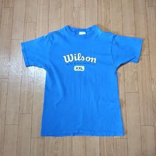 ウィルソン(wilson)のWilson ウィルソン Tシャツ プリント USA製 Lサイズ レディース(Tシャツ(半袖/袖なし))