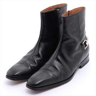 グッチ(Gucci)のグッチ ホースピット レザー 38 ブラック メンズ ブーツ(ブーツ)