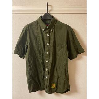エフエーティー(FAT)のFAT エフエーティー シャツ 半袖 ボタンダウン オリーブ グリーン 緑(シャツ)