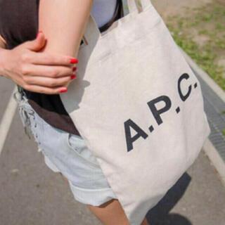 アーペーセー(A.P.C)の新品未使用!apc ロゴトートバッグ エコバッグ 内ポケット付き(トートバッグ)