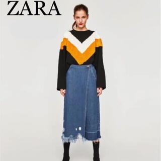 ザラ(ZARA)のzara デニムラップスカート風パンツ(キュロット)