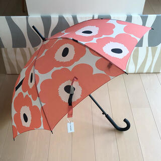 マリメッコ(marimekko)の新品 marimekko Stick Pieni Unikko 長傘 コーラル(傘)