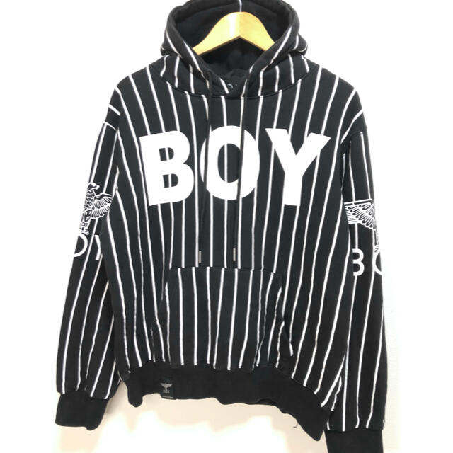Boy London(ボーイロンドン)の【希少】❤️BOY LONDON❤️パーカー 黒 ビッグシルエット 春 夏 メンズのトップス(パーカー)の商品写真