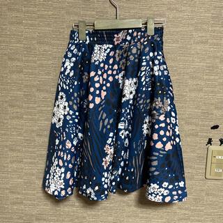 アディダス(adidas)のadidas originals花柄スカート XSサイズ(ひざ丈スカート)