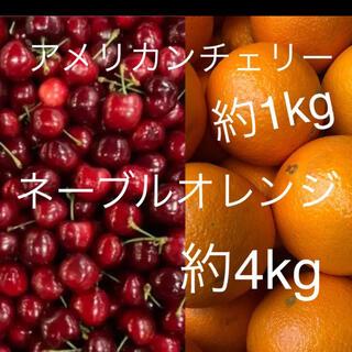 アメリカンチェリー 約4kg   オレンジ約5kgセット(フルーツ)