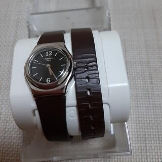 Switch 革ベルト=ブレスレットタイプ 電池交換済 本体美品(腕時計)