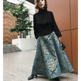 アメリヴィンテージ(Ameri VINTAGE)のameri vintage ダマスクスカート(ロングスカート)