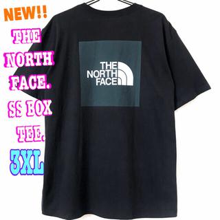 ザノースフェイス(THE NORTH FACE)のビッグサイズ ☆ 新品 ノースフェイス BOX Tシャツ 黒 グレー(Tシャツ/カットソー(半袖/袖なし))