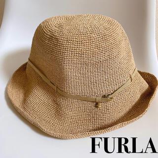 フルラ(Furla)のFURLA フルラ 麦わら帽子 折り畳み(麦わら帽子/ストローハット)