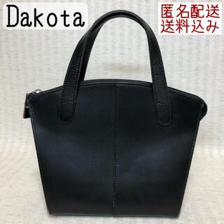 ダコタ(Dakota)のDakota トートバッグ ハンドバッグ レザー 革 黒 ヴィンテージ(トートバッグ)