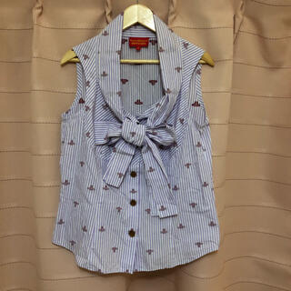 ヴィヴィアンウエストウッド(Vivienne Westwood)のヴィヴィアンウェストヴット ノースリーブシャツ(シャツ/ブラウス(半袖/袖なし))