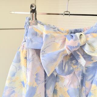 リズリサ(LIZ LISA)の【最終価格】LIZ LISA 花柄 リボン カジュアルスカート(ミニスカート)
