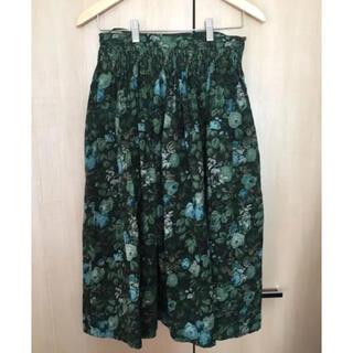 グリモワール(Grimoire)の【grimoire】Flower print Green skirt(ロングスカート)