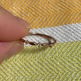 テイクアップ(TAKE-UP)のTAKE-UP リング K10 ピンクゴールド ダイヤ(リング(指輪))