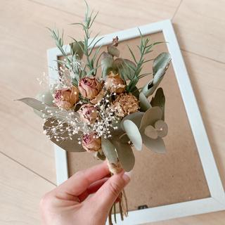 ドライフラワー プリザーブドフラワー 造花 スワッグ 花束 小花 インテリア 花(ドライフラワー)