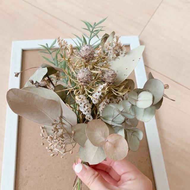 ドライフラワー プリザーブドフラワー 造花 スワッグ 花束 小花 インテリア 花 ハンドメイドのフラワー/ガーデン(ドライフラワー)の商品写真