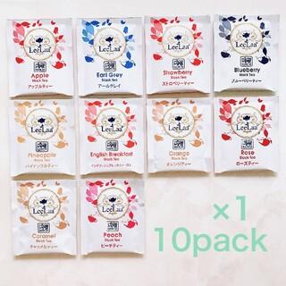 LeeLaa  10P 紅茶 フレーバー アソート ティーバッグ 食品 飲物 (茶)