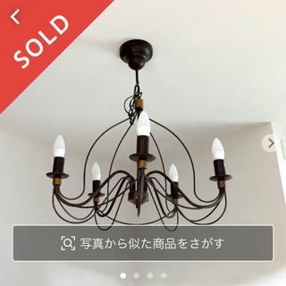 【アンティーク調シャンデリア】ダークブラウン LED アイアン シーリングライト(天井照明)