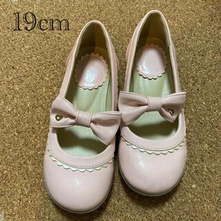 ディズニー(Disney)の子供靴19cm 女の子靴 ビビディバビディブティック靴 プリンセスローズ (フォーマルシューズ)