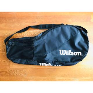 wilson - 【希少】ウィルソン『ロゴ ラケットバッグ/ケース』ブラック/テニス/2-3本収納