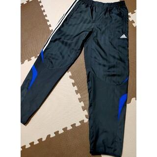 アディダス(adidas)の☆adidas アディダス ウインドブレーカーナイロンパンツ 黒&白線 サイズL(トレーニング用品)