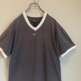 ナイキ(NIKE)の90s NIKE リンガー Tシャツ 刺繍ロゴ ゆるだぼ  vintage(Tシャツ(半袖/袖なし))