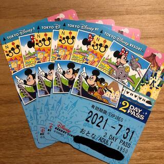 ディズニー(Disney)のディズニーリゾートライン フリーきっぷ 2DAY PASS ×4(鉄道乗車券)