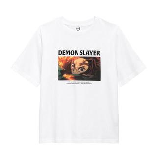 ジーユー(GU)のGU 鬼滅の刃 コラボ グラフィックTシャツ ウィメンズ M(キャラクターグッズ)