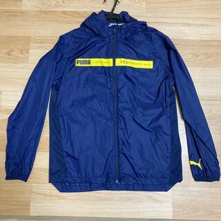 プーマ(PUMA)のPUMA薄手160ウィンドブレーカー羽織ネイビースポーツ(ジャケット/上着)