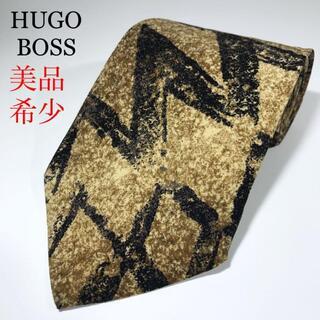 HUGO BOSS - 美品 希少 ヒューゴボス イタリア製 高級シルク ネクタイ シェブロンストライプ