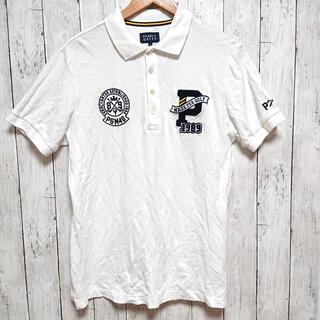 PEARLY GATES - 美品 PEARLY GATES メンズ XL 半袖ポロシャツ 白 ワッペン