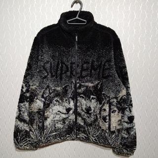 シュプリーム(Supreme)のSupreme Wolf Fleece Jacket S Black(ブルゾン)