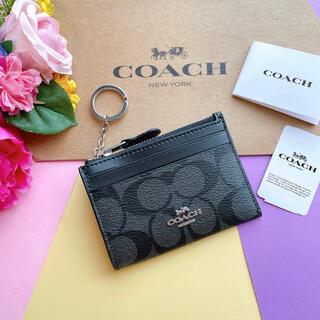 コーチ(COACH)の新品♡coach コーチ 黒 シグネチャー おしゃれ 父の日 おすすめ(コインケース/小銭入れ)