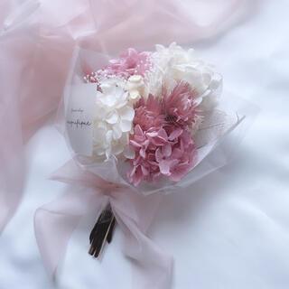 アンティークピンク ドライフラワー 花束 ブーケ スワッグ ギフト(ドライフラワー)