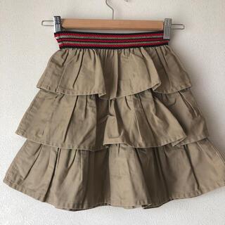 ゴートゥーハリウッド(GO TO HOLLYWOOD)の美品ゴートゥーハリウッド3段フリルスカート110(スカート)