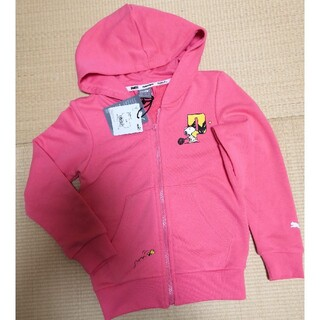 プーマ(PUMA)の【新品】プーマ☆フルジップパーカー スヌーピーコラボ ピンク size 128㎝(ジャケット/上着)