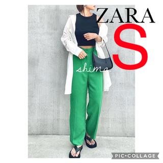ザラ(ZARA)のZARA マスキュリンワイドレッグパンツ S ハイラズパンツ(カジュアルパンツ)
