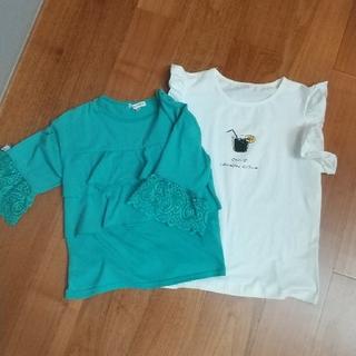 エニィファム(anyFAM)のanyFAM140と白いTシャツ150セット(Tシャツ/カットソー)
