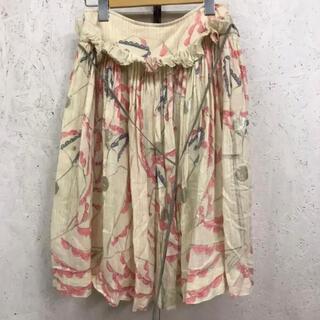 ミナペルホネン(mina perhonen)のmina perhonen flamingo フラミンゴ フリル ガーゼスカート(ひざ丈スカート)