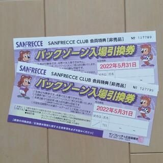 サンフレッチェ広島 バックスタンド入場引換券(サッカー)