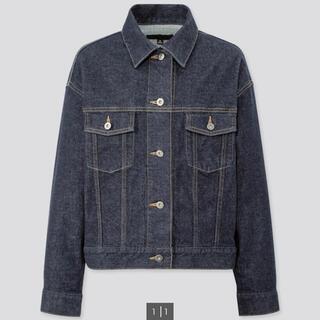 ユニクロ(UNIQLO)の【UNIQLO】 ユニクロ デニムオーバーサイズジャケット カラー68 BLUE(Gジャン/デニムジャケット)