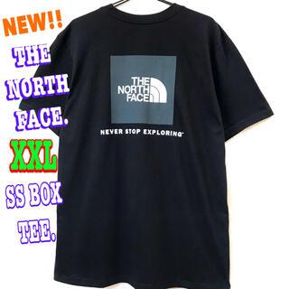 ザノースフェイス(THE NORTH FACE)の結構ビッグ♪ ノースフェイス  BOXロゴ Tシャツ 黒 XXL 3L(Tシャツ/カットソー(半袖/袖なし))