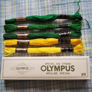 オリンパス(OLYMPUS)の刺繍糸 5本 オリムパス ③(生地/糸)
