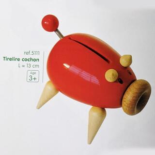 ヴィラック(vilac)のフランス木製玩具 Vilac (ヴィラック) ブタの貯金箱(置物)