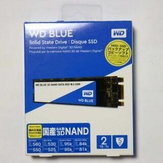 ウエスタンエディション(Western Edition)のWD Blue 2TB M.2 SSD SATA WDS200T2B0B (PCパーツ)