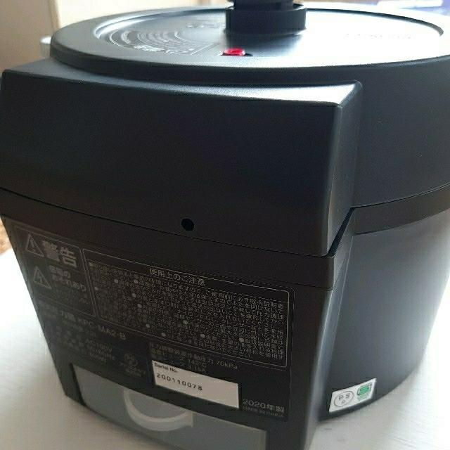 アイリスオーヤマ(アイリスオーヤマ)のアイリスオーヤマ 電気圧力鍋2.2L ブラック スマホ/家電/カメラの調理家電(調理機器)の商品写真